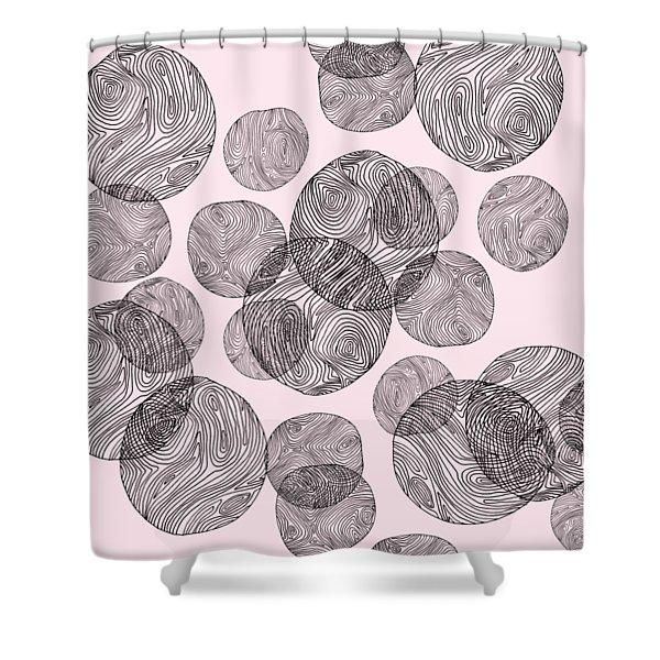 Woodprint Pattern Shower Curtain