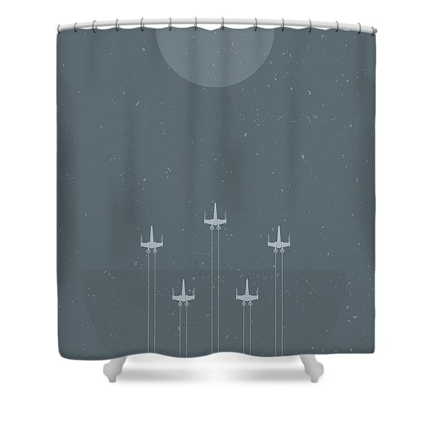 X-wing Attack Shower Curtain