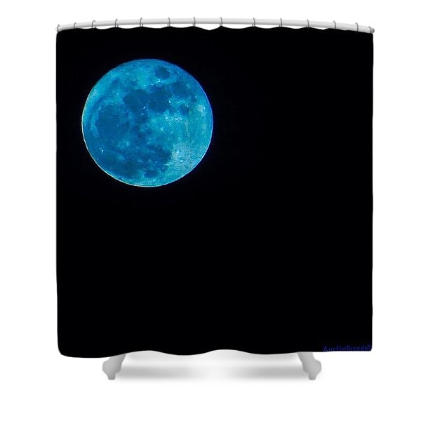 Yes, Once In A #bluemoon! Shower Curtain