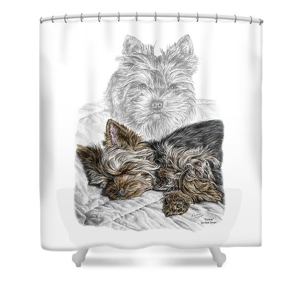 Yorkie - Yorkshire Terrier Dog Print Shower Curtain
