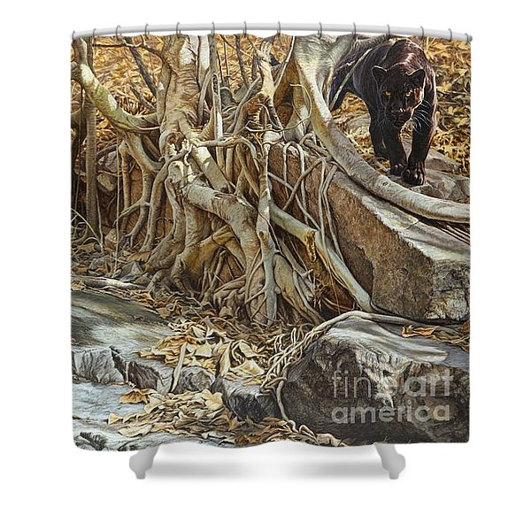 Shower Curtain featuring the painting You Take The High Ridge by Alan M Hunt