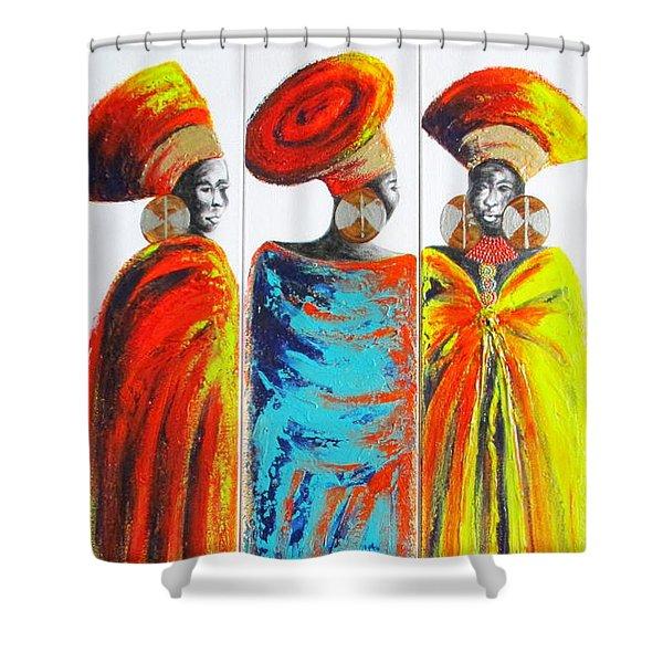 Zulu Ladies 2 Shower Curtain