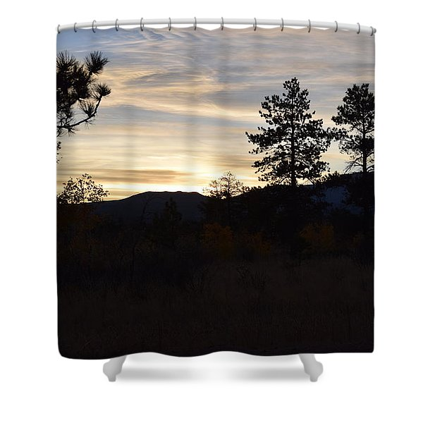 Sunrise Back Country Co Shower Curtain
