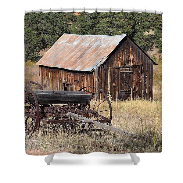 Seed Tiller - Barn Westcliffe Co Shower Curtain