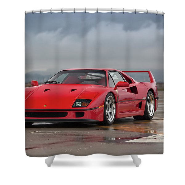 #ferrari #f40 #print Shower Curtain