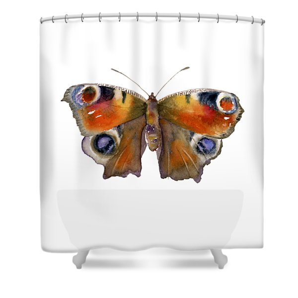 10 Peacock Butterfly Shower Curtain