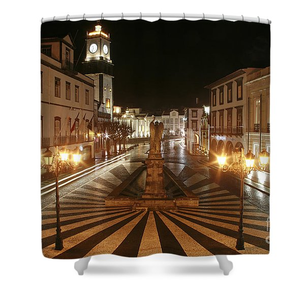 Ponta Delgada - Azores Shower Curtain