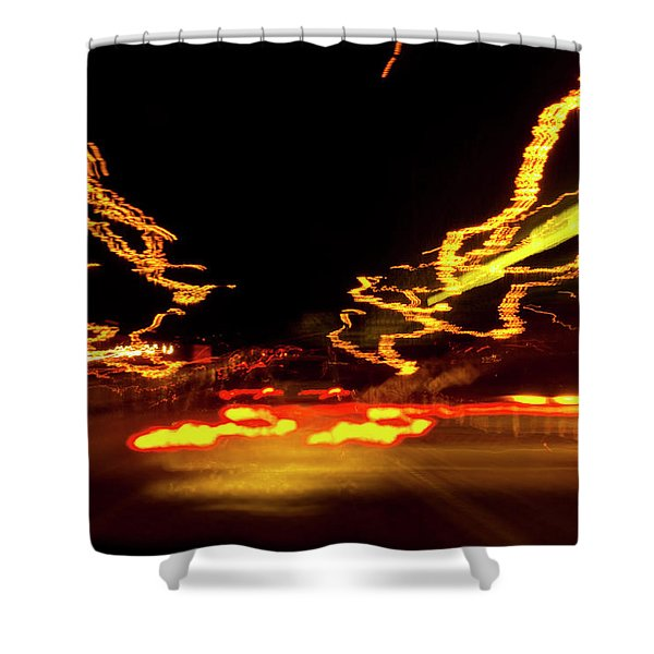 101 Southbound At Night Shower Curtain