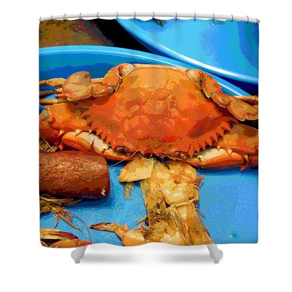 101516 Crab Boil Shower Curtain