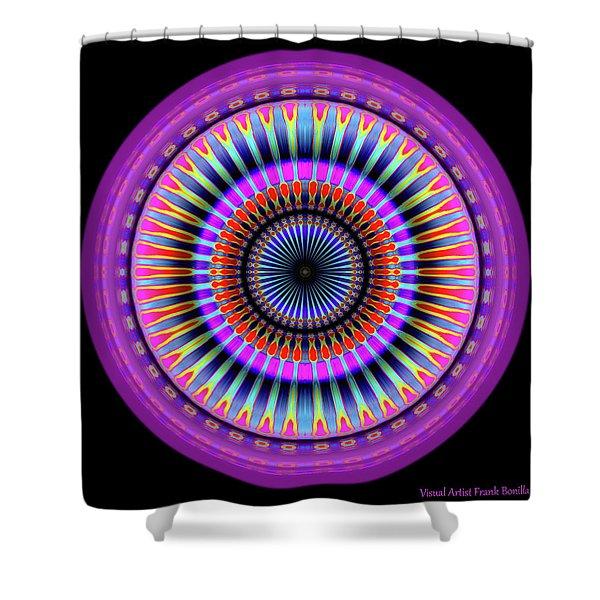 Shower Curtain featuring the digital art 101520177 by Visual Artist Frank Bonilla