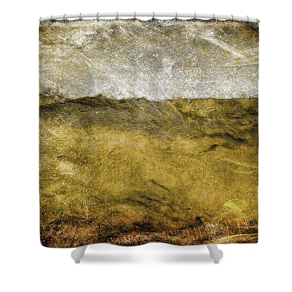 10b Abstract Expressionism Digital Painting Shower Curtain