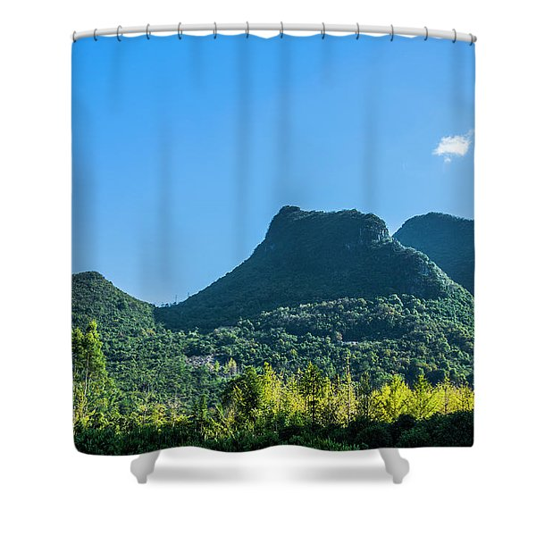 Countryside Scenery In Autumn Shower Curtain