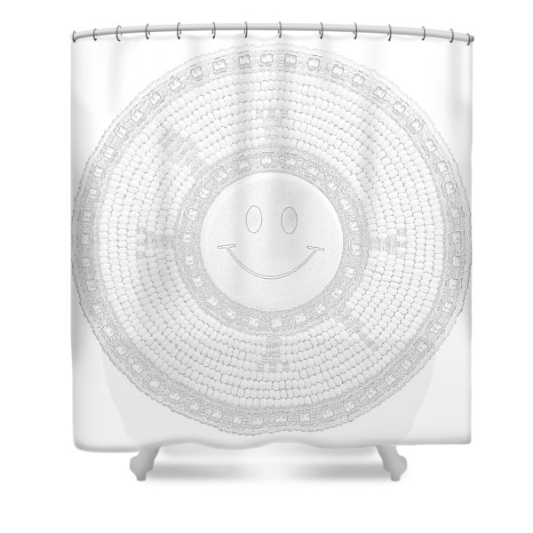 110-happy Face 0115 Wampum White Shower Curtain