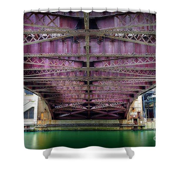 1136 Under The Dearborn Street Bridge Shower Curtain