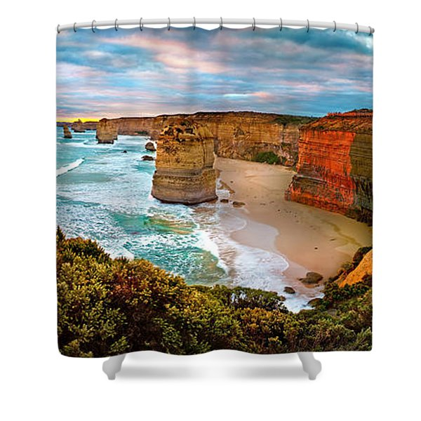 12 Apostle Sunset Shower Curtain