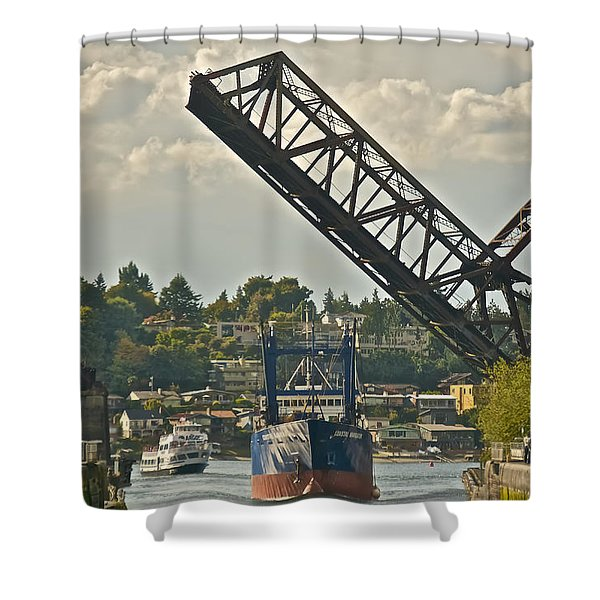 Ballard Locks Shower Curtain
