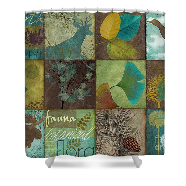 12 Days In The Woods Shower Curtain