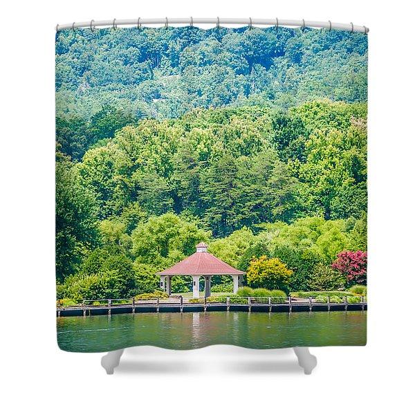 Scenery Around Lake Lure North Carolina Shower Curtain