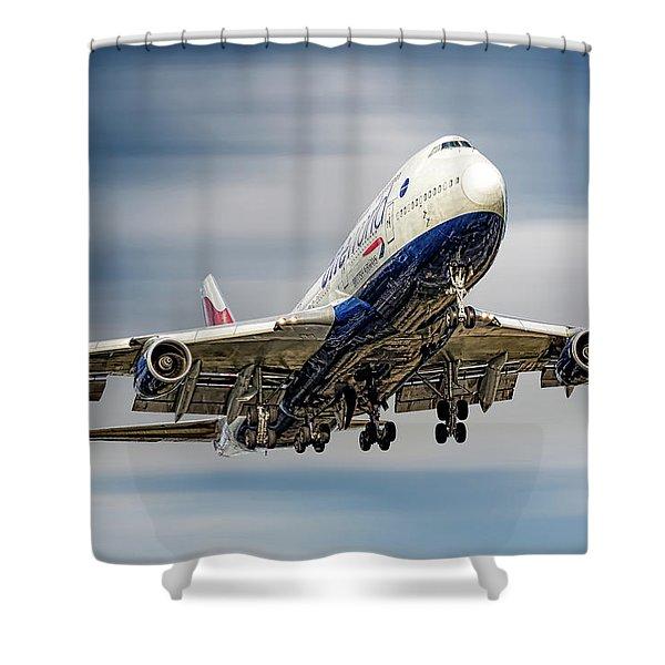 British Airways Boeing 747-436 Shower Curtain