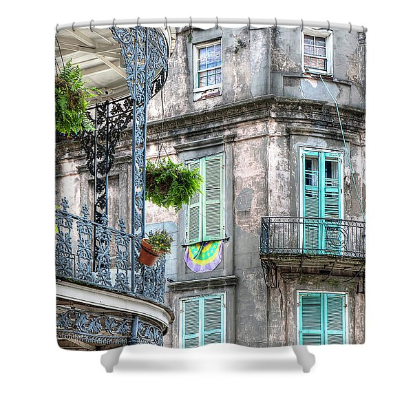 1358 French Quarter Balconies Shower Curtain