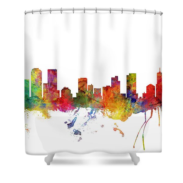 Denver Colorado Skyline Shower Curtain