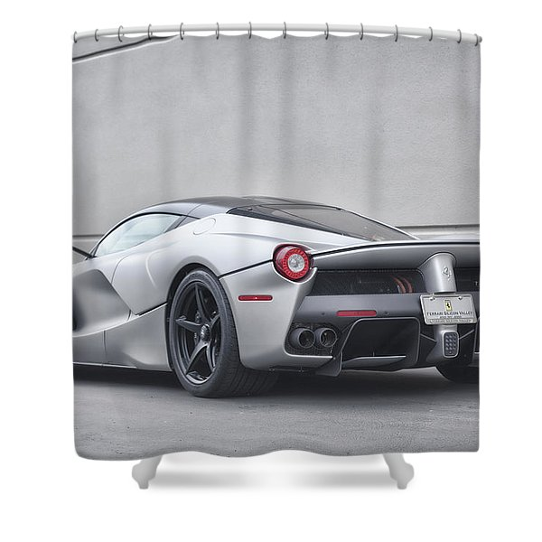 #ferrari #laferrari Shower Curtain