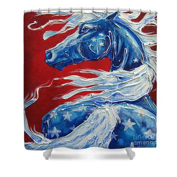 #14 July 4th Shower Curtain