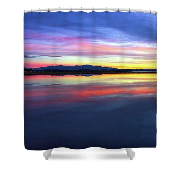 Lake Winnipesaukee - Layers Shower Curtain