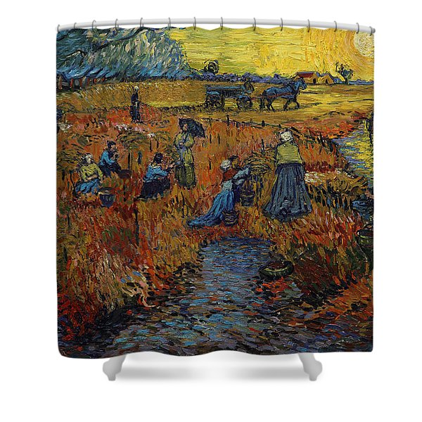 The Red Vineyard Shower Curtain
