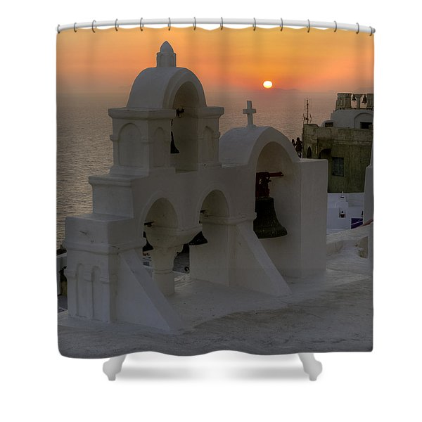 Oia - Santorini Shower Curtain