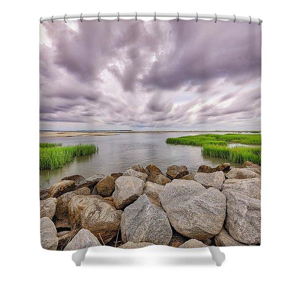 Seascape Of Hilton Head Island Shower Curtain