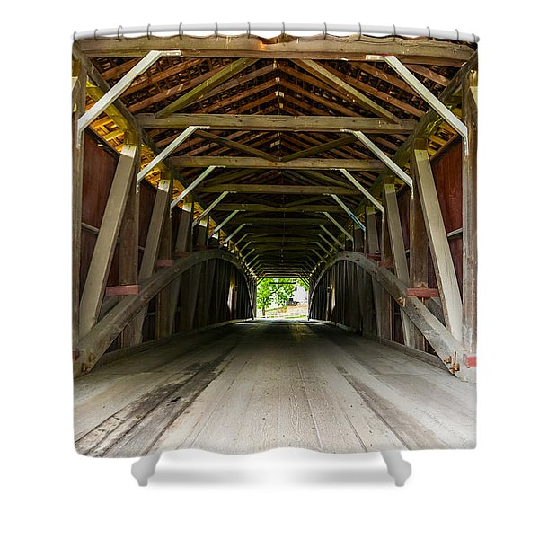 143 Feet Of Covered Bridge Shower Curtain