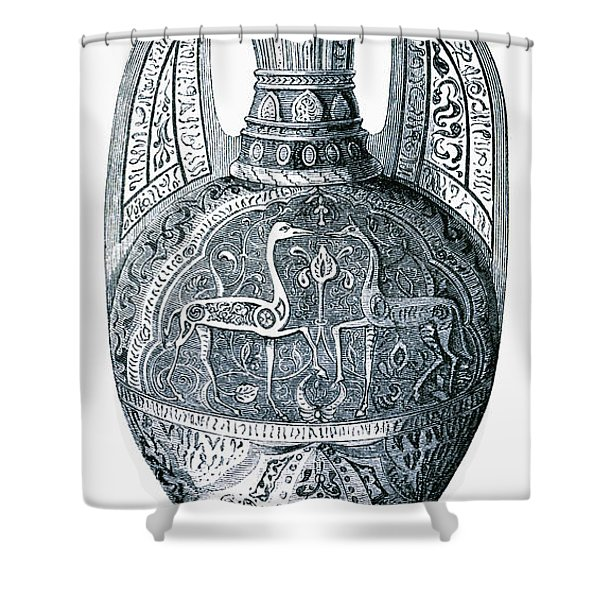 14th Century Lustre Storage Vase Of The Shower Curtain