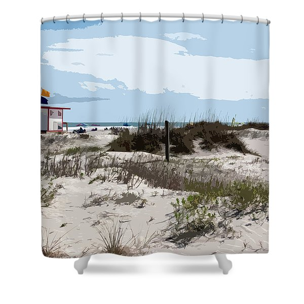 Jetty Park On Cape Canaveral In Florida Shower Curtain