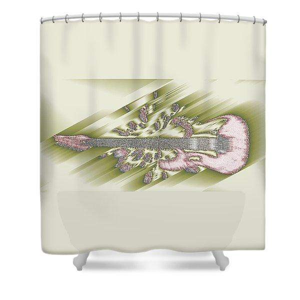 Wedding Guitar Shower Curtain