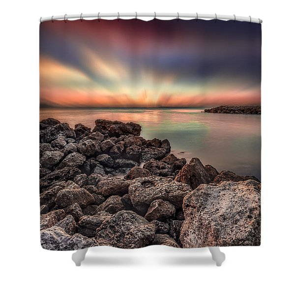 Sunst Over The Ocean Shower Curtain