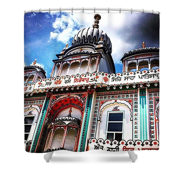 The Temple Shower Curtain