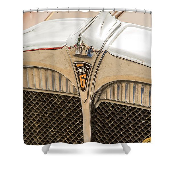 1931 Willys Convertible Car Antique Vintage Automobile Photograp Shower Curtain