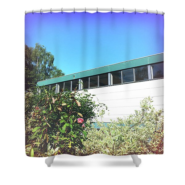 Building Exterior Shower Curtain