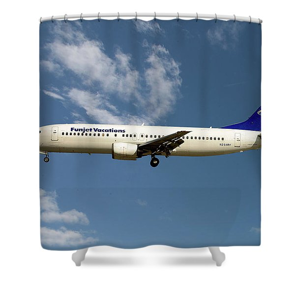 Funjet Vacations Boeing 737-400 Shower Curtain