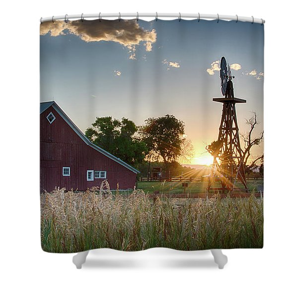 17 Mile House Farm - Sunset Shower Curtain