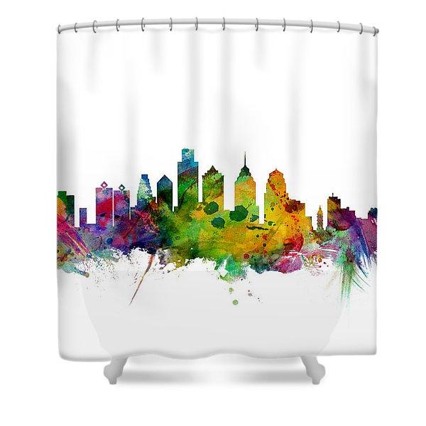 Philadelphia Pennsylvania Skyline Shower Curtain
