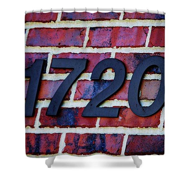 1720 Address Shower Curtain