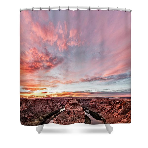 180 Degrees Of Sunset Shower Curtain