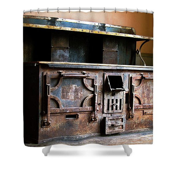 1800's Stove Shower Curtain