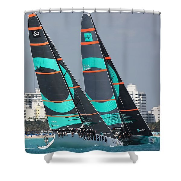 Miami Regatta Shower Curtain