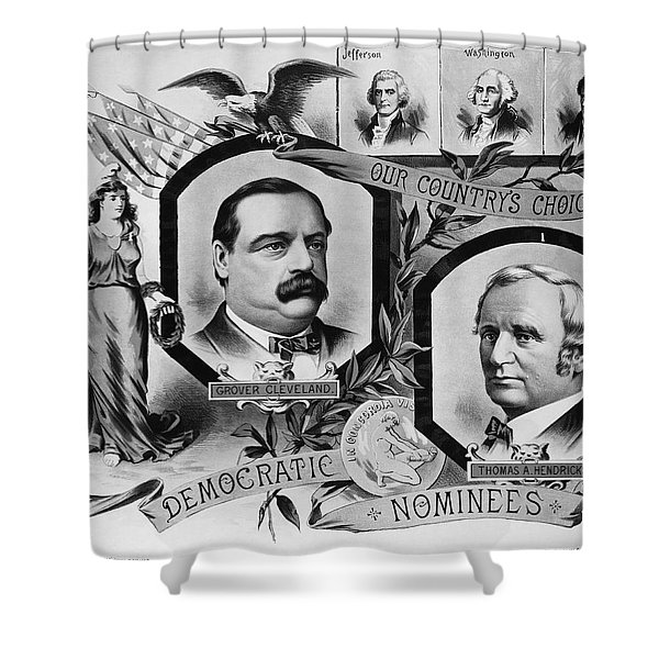 1884 Campaign Banner Shower Curtain