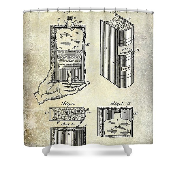 1885 Liquor Flask Patent Shower Curtain