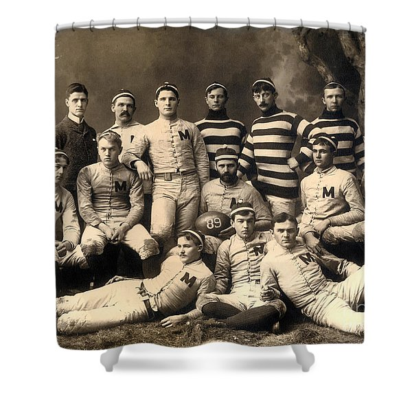 1889 Michigan Wolverines Football Team   Shower Curtain