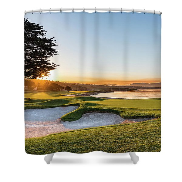 18th At Pebble Beach Shower Curtain